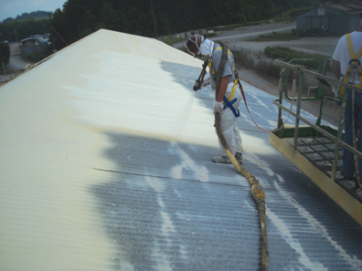 Spray Foam Over Metal Roofing
